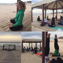 Yoga en la Playa. JJ en Ivernis Mare