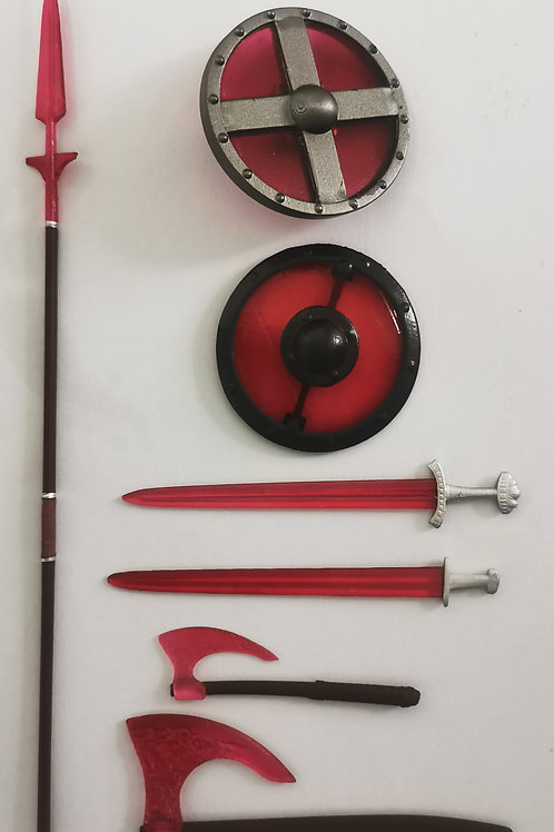 Red Fire Energy Weapons Pack for Vikings vs Barbarians