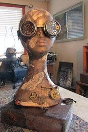 """""""Zelda"""" Steampunk Statue"""