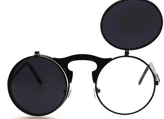 Round Steampunk flip up Sunglasses