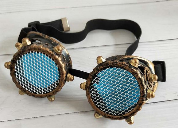 Antique Copper Goggles with Metal Grill