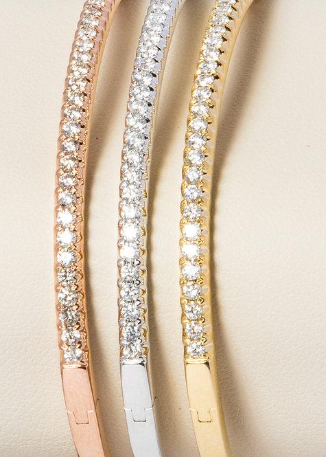 Stackable Diamond Bangles