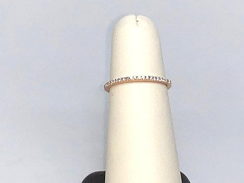 Diamond Ring on 14K Rose Gold