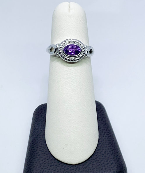 Amethyst Ring on Sterling Silver