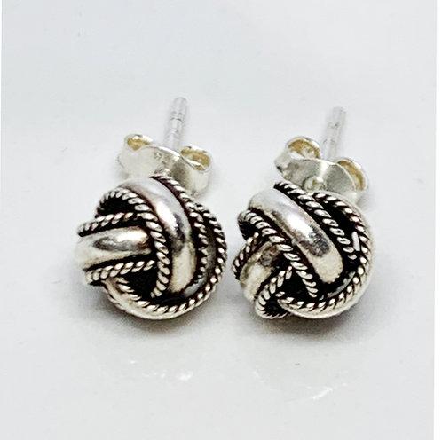 Sterling Silver Knot-Twist Earrings