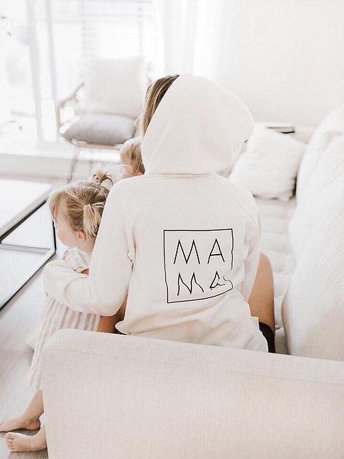 MAMA | RAW-HEM HOODIE