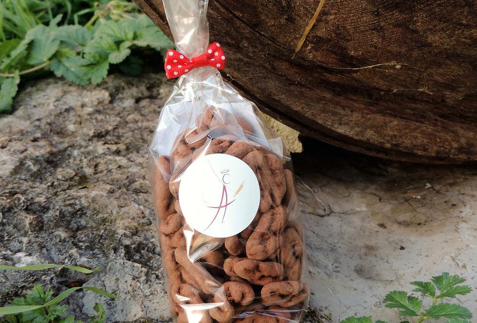 Cerneaux de noix enrobés de chocolat