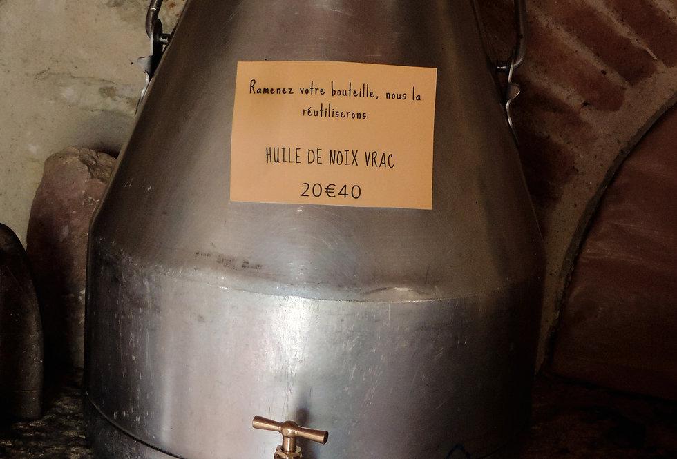 VRAC Huile de noix au litre