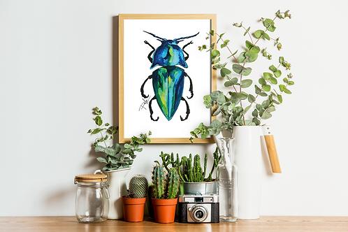 Blue Beetle Litography