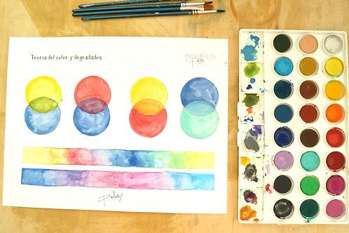 Acuarela: Teoría del color y degradados