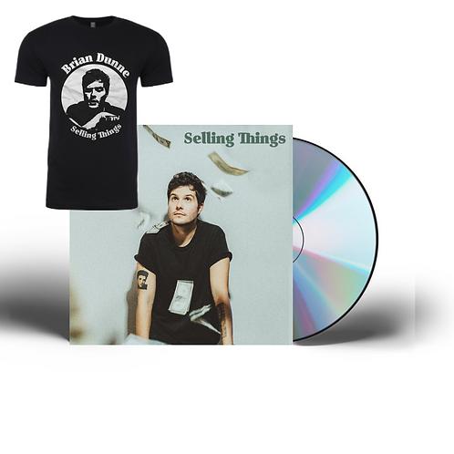 SELLING THINGS CD + TEE BUNDLE {SIGNED}