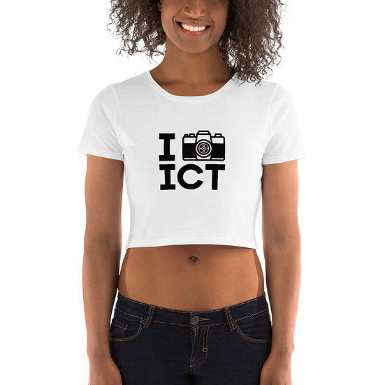 I Photograph ICT - Women's Crop Tee Black Logo