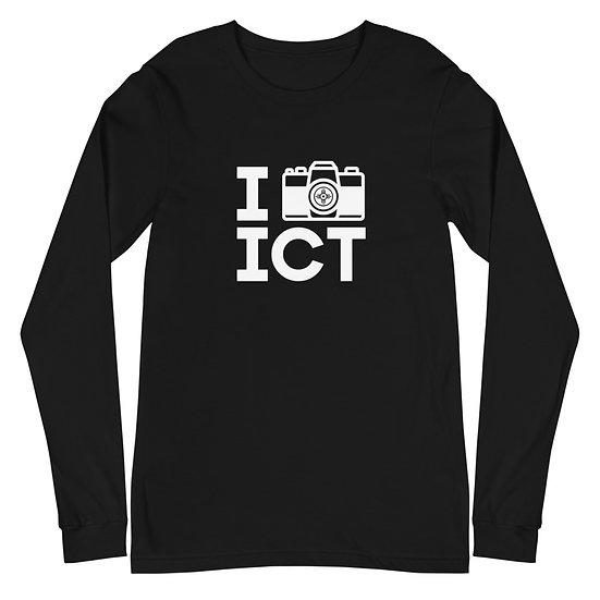 I Photograph ICT - Unisex Long Sleeve Tee White Logo