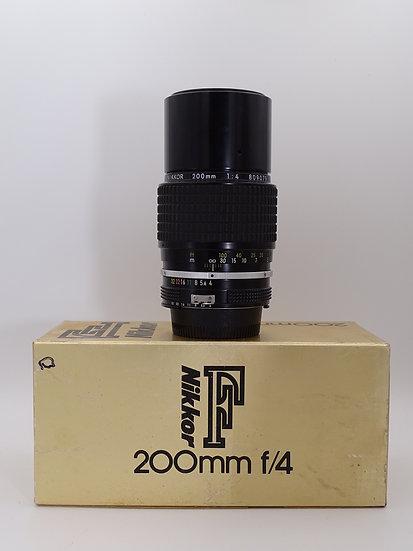 Nikon 200mm f/4 AI