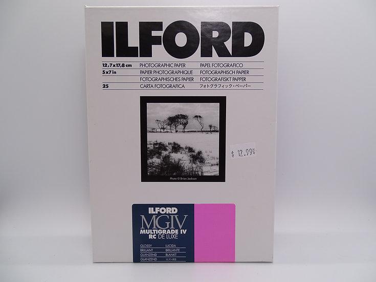 Ilford Multigrade IV RC Deluxe Glossy 5x7