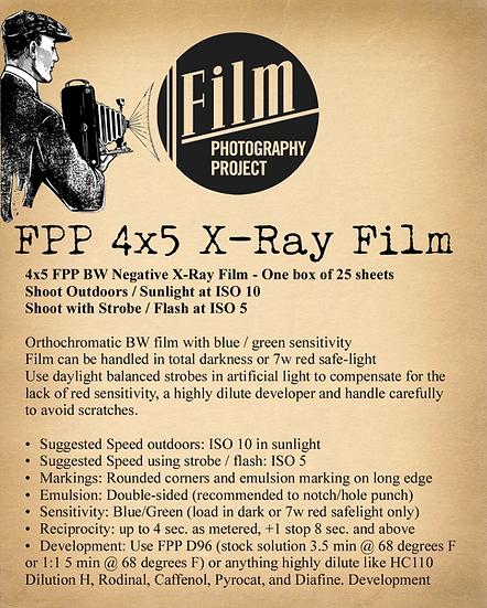 FPP 4x5 X-Ray Film