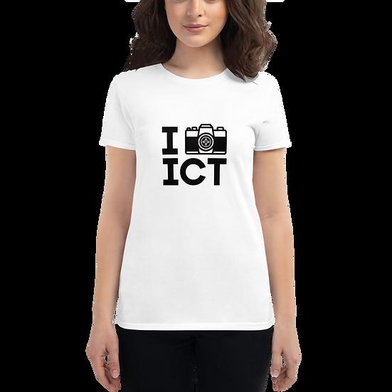 I Photograph ICT - Women's short sleeve t-shirt Black Logo
