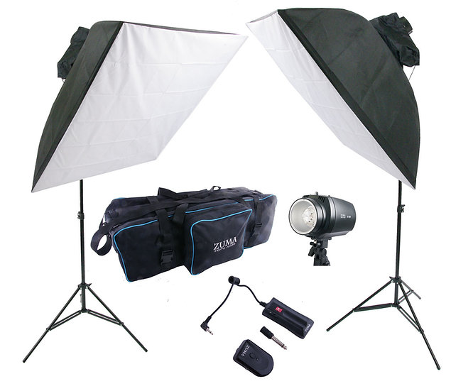 "300 w/s Dual 36"" Umbrella Flash/Softbox Flash Kit"