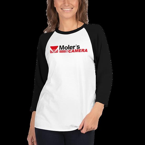 Moler's Camera Unisex 3/4 sleeve raglan shirt