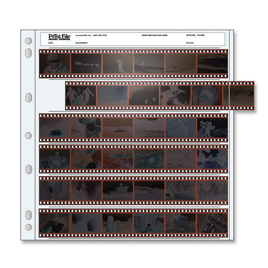PrintFile 35mm 36 Frame Archival Sheets