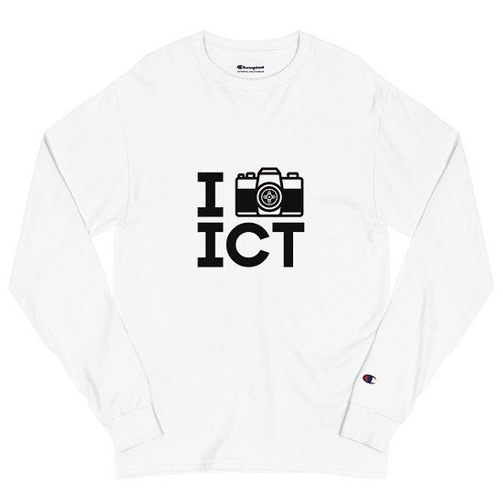 I Photograph ICT - Men's Champion Long Sleeve Shirt Black Logo
