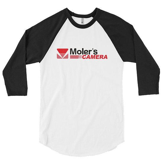 Moler's Camera Men's 3/4 sleeve raglan shirt