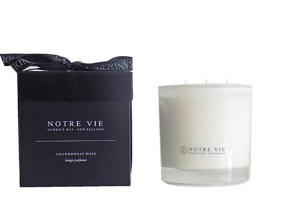 Giftboxed Large Glass 3 Wick candle