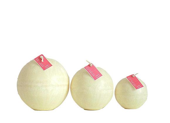 Ball Candles, Vanilla & Rosewater