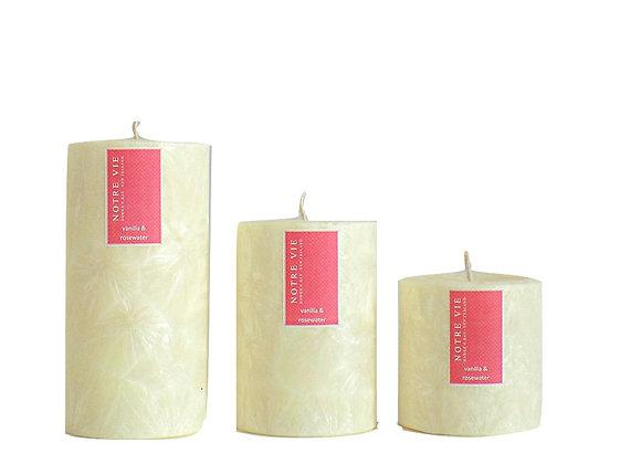 75mm Pillars Vanilla & Rosewater