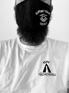 Package 1: 'SUPPORT YOUR LOCALS' Stoffmaske by UNFAIR und Fächerbräu-Shirt