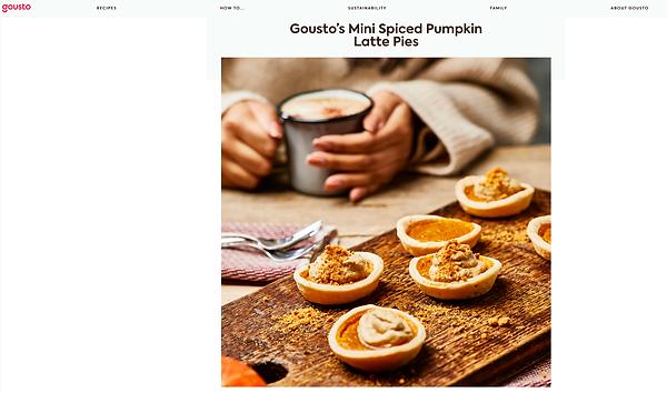 Mini Spiced Pumpkin Latte Pies https://www.gousto.co.uk/blog/pumpkin-latte-pies