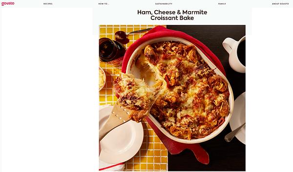 Ham, Cheese & Marmite Croissant Bake