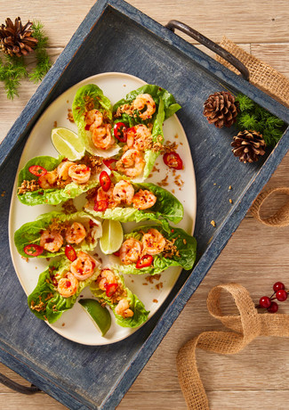 Sweet Chilli Prawn Lettuce Cups (for Gousto)