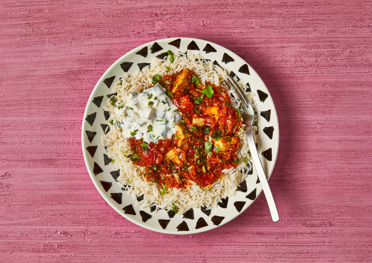 Hot Chicken Madras With Cooling Raita (for Gousto)
