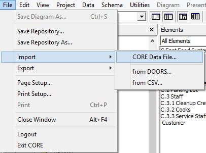 Navigate to the CORE documents template folder