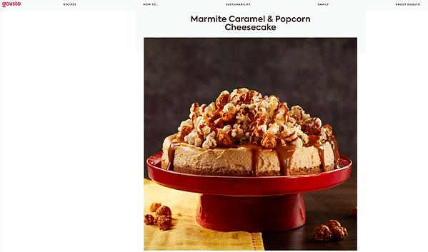 Marmite Caramel Popcorn Cheesecake