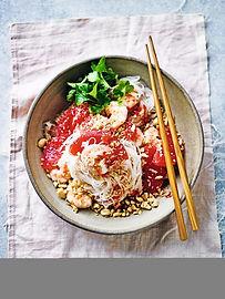 Thai-style Prawn & Grapfruit Noodle Salad - Waitrose Weekend