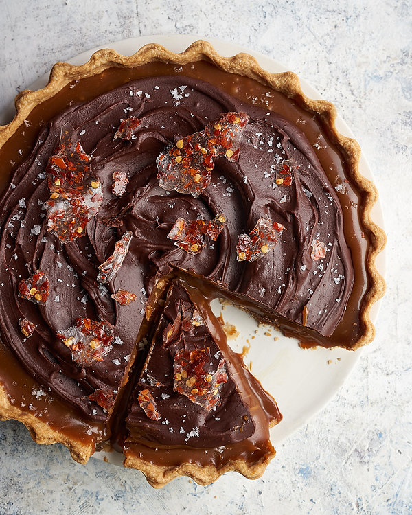 Chocolate Ganache & Salted Caramel Tart