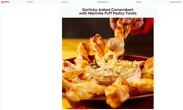 Garlicky-baked Camembert with Marmite Puff Pastry Twists