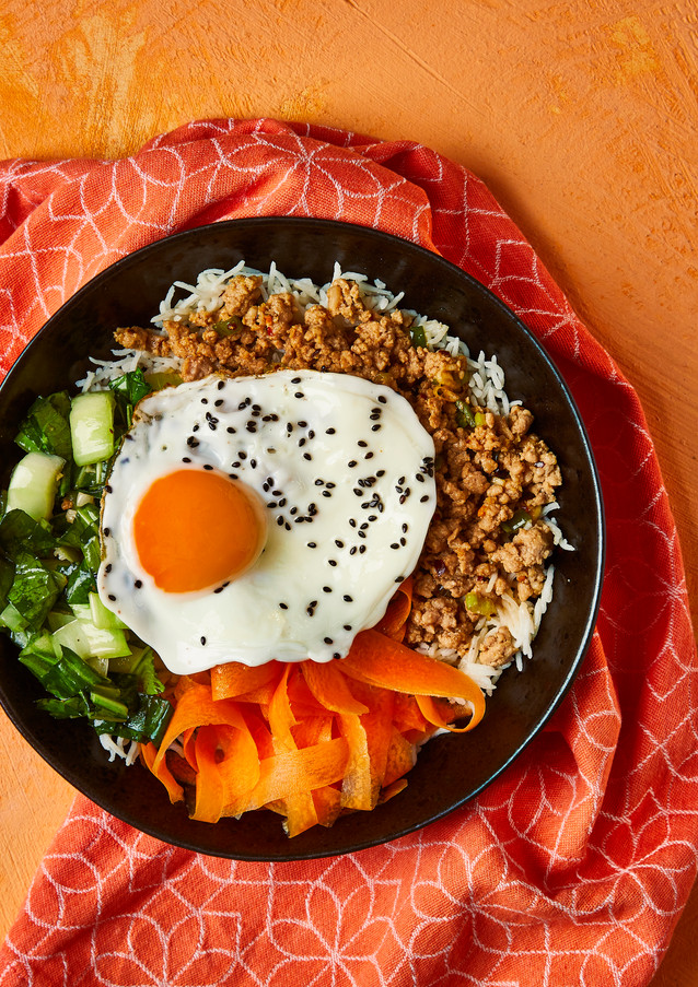 Crispy Pork Bibimbap With Pak Choi (for Gousto)