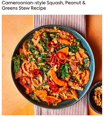 Cameroonian-style Squash, Peanut & Greens Stew