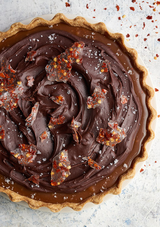 Caramel, Chocolate & Chilli Tart