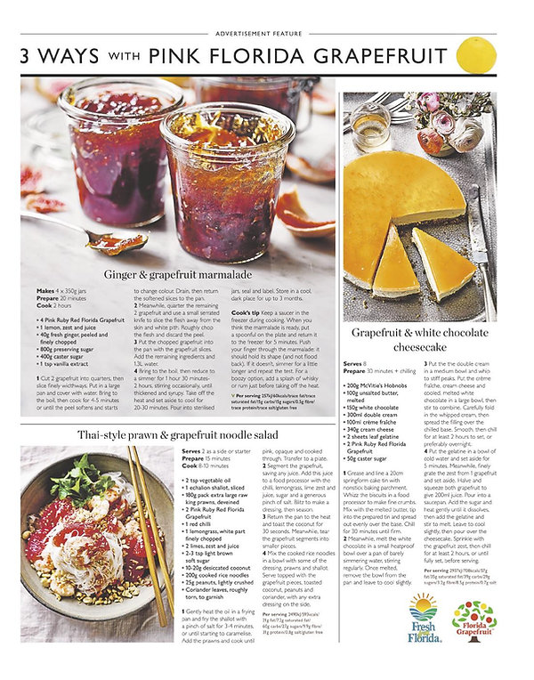 3 Ways with Pink Grapefruit - Waitrose Weekend