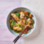Crispy Chilli Haddock With Pak Choi Noodles