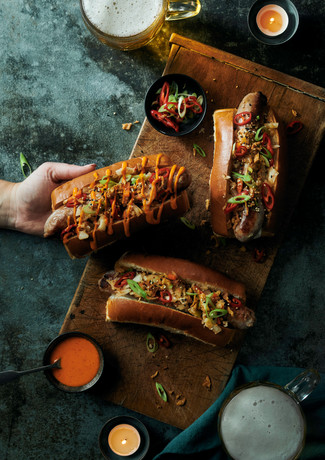 Kimchi Hot Dogs