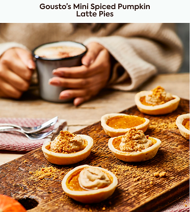 Mini Spiced Pumpkin Latte Pies