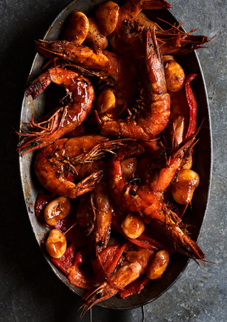 Charred Prawns & Butterbeans