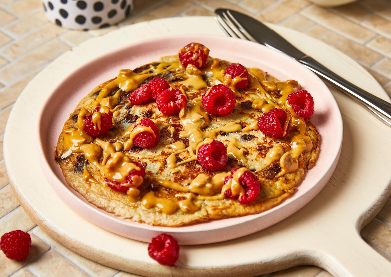 Peanut Butter Raspberry Pancakes (for Gousto)