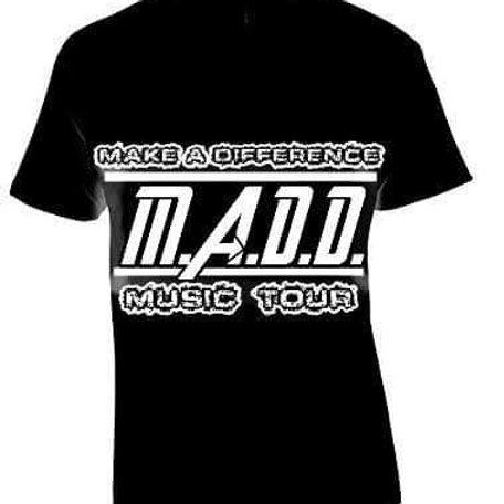 MADD music tour shirt White and Black