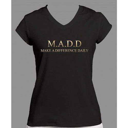 Make A Difference Daily Women's V-neck shirt